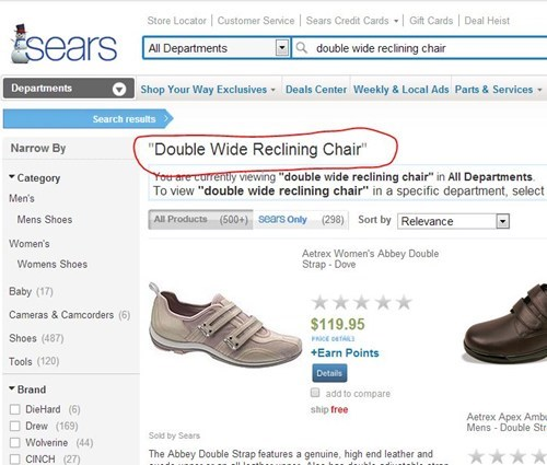 chairs,shoes,sears
