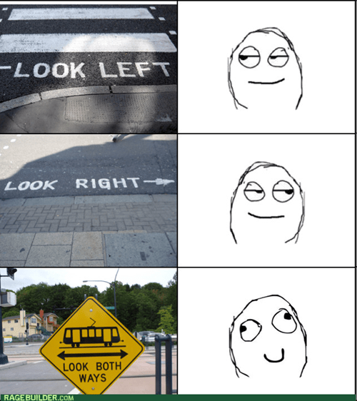 signs,look both ways