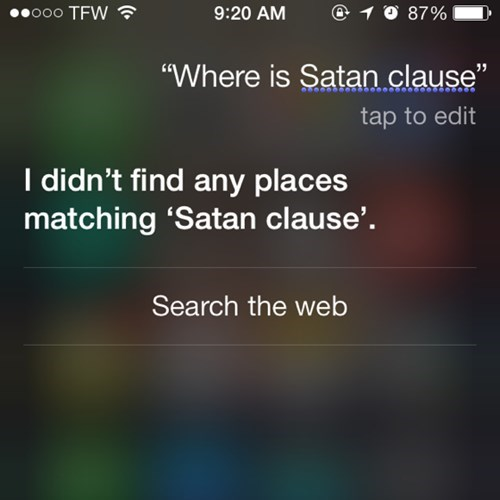 AutocoWrecks,satan,santa claus,siri,g rated