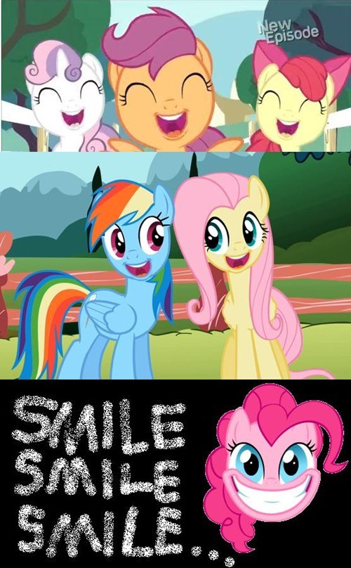 cutie mark crusaders MLP smiles - 7954789376