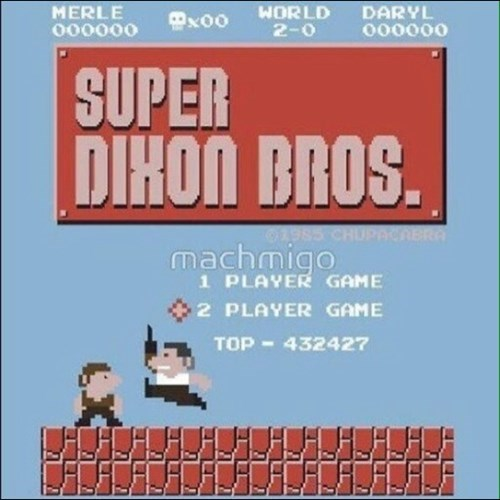 super dixon bros. mario nintendo parody with the dixon brothers merle and daryl from the walking dead