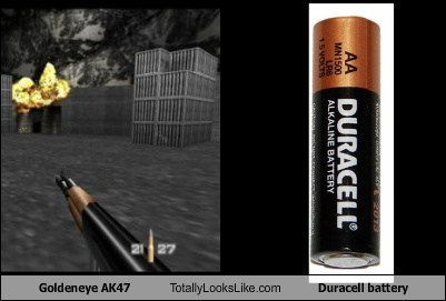 n64 ak47 goldeneye totally looks like battery - 7954900992