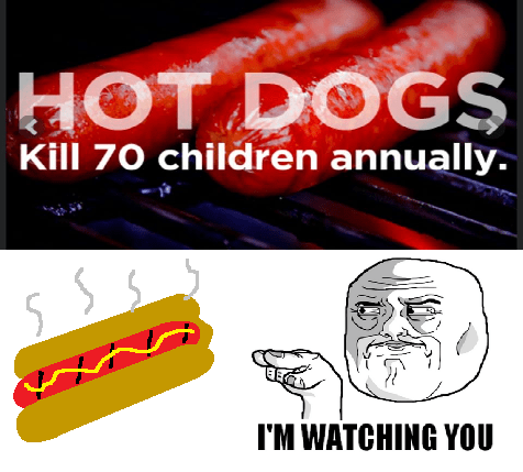 hot dogs,im-watching-you