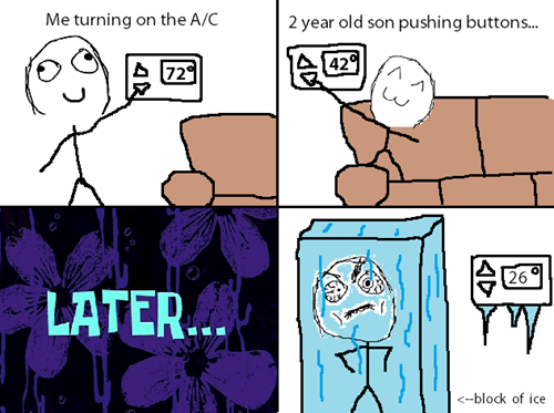 air conditioner,kids