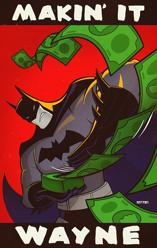 batman make it rain pun Fan Art - 7954986496