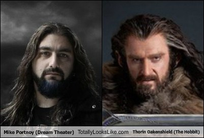 mike portnoy,The Hobbit,totally looks like,Dream Theater,thorin oakenshield