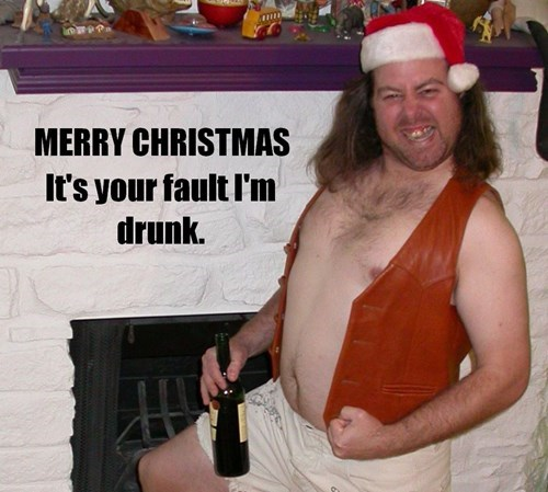 christmas drunk funny wtf - 7955293440