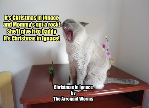 It's Christmas in Ignace and Mommy's got a rock! She'll give it to Daddy It's Christmas in Ignace! Christmas in Ignace by The Arrogant Worms