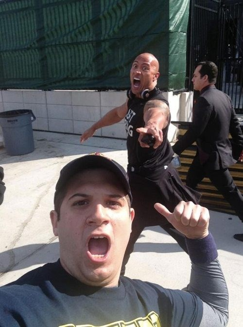 celeb,photobomb,the rock