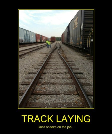 job,funny,wtf,train track
