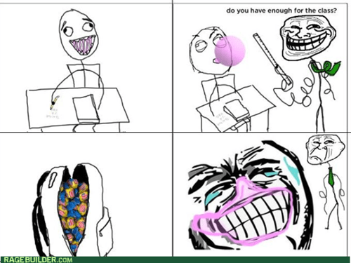 gum,trollface,teachers