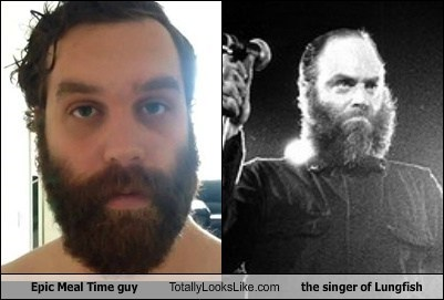 singers,totally looks like,epic meal time guy,beards,lungfish