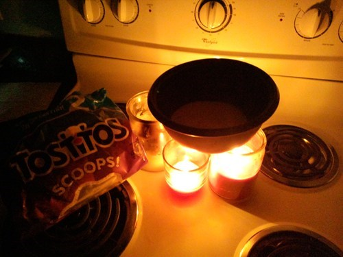 No power, No problem dinners served