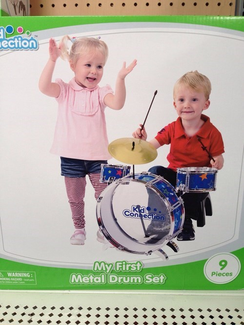 drums,kids,metal,toys,g rated,parenting