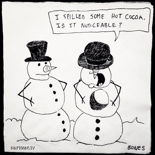 problems hot chocolate snowmen web comics - 7957628416