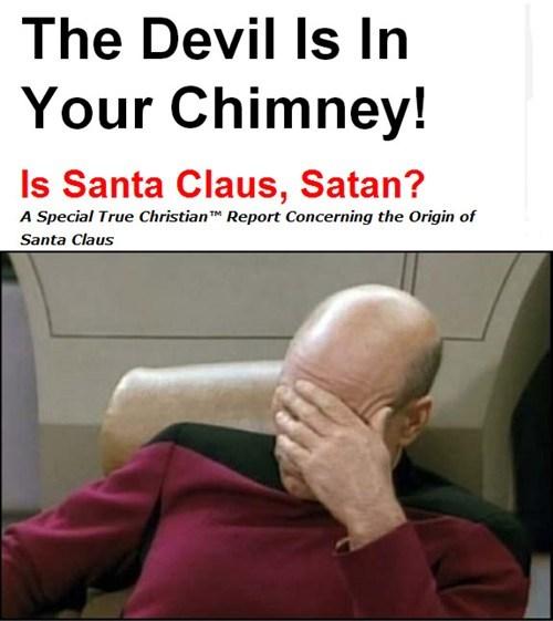 christmas wtf satan facepalm santa - 7957924608