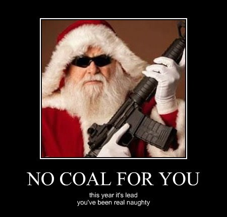 NO COAL FOR YOU this year it's lead you've been real naughty
