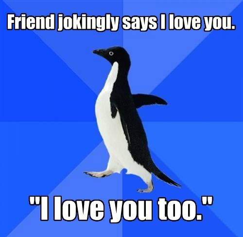 socially awkward penguin,advice animals,Memes