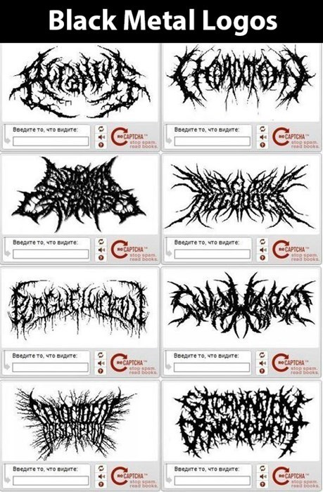 metal Music captcha recaptcha black metal logos black metal - 7958239488