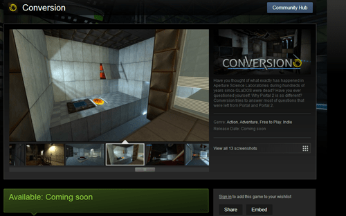 conversion indie games Portal Video Game Coverage - 7958292736