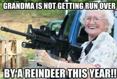 christmas grandma reindeer - 7958307840