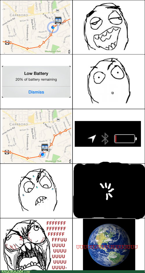 battery life,buses,rage