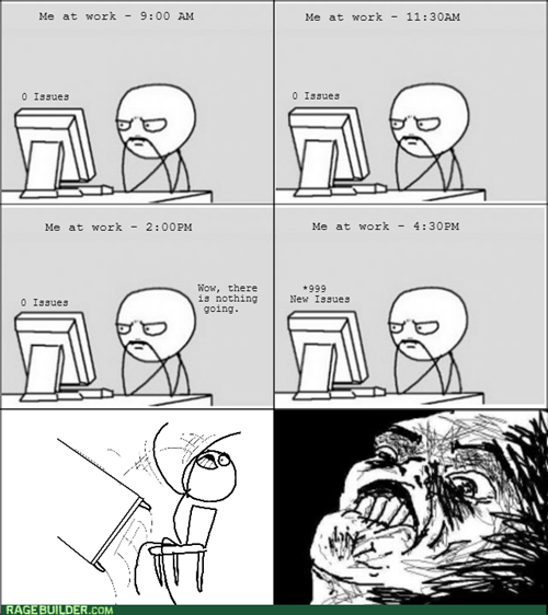 computer guy work table flipping rage - 7958377472