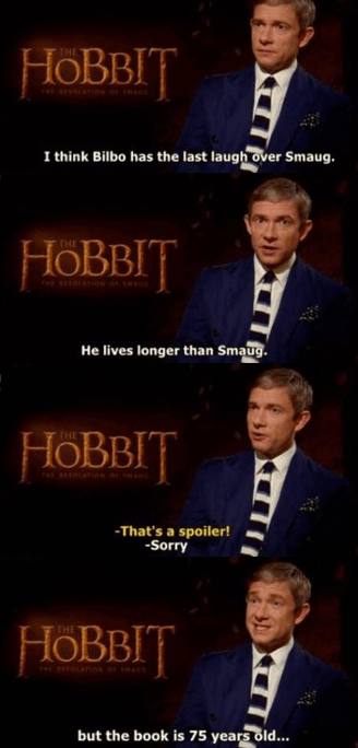 celeb The Hobbit Martin Freeman spoilers - 7958384640