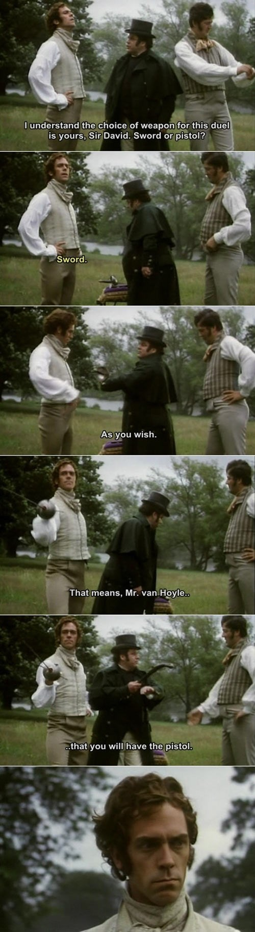 duel,hugh laurie,Stephen Fry,a bit of fry and laurie,pistols at dawn