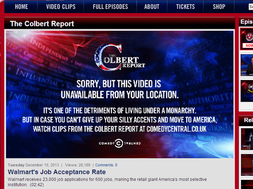 comedy central england the colbert report