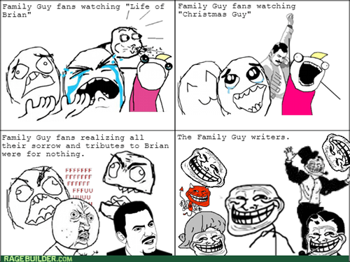 brian griffin,rage,trollface,family guy