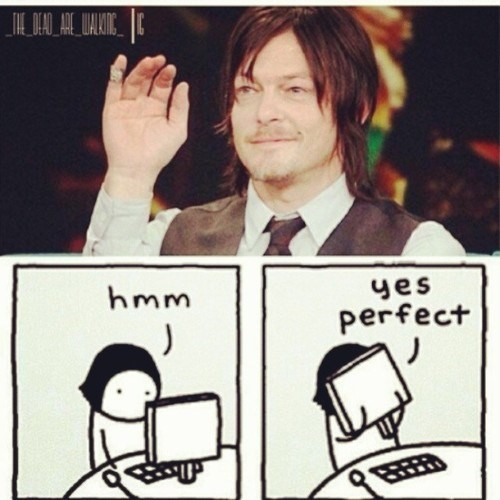 comics norman reedus fangirling - 7958467584