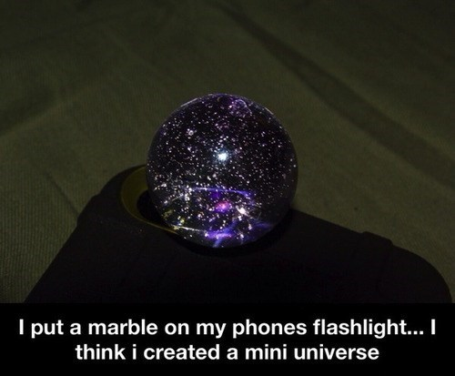 marble design flashlight