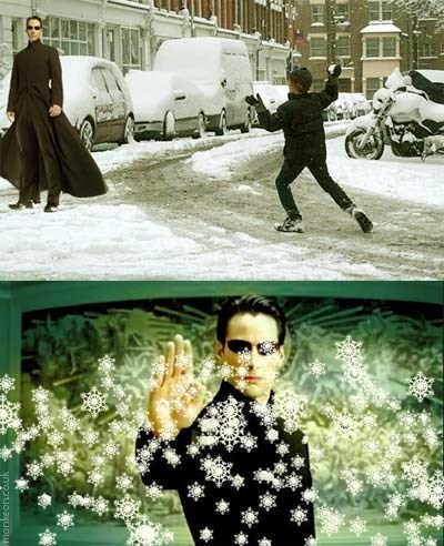 the snow,the matrix,winter,neo