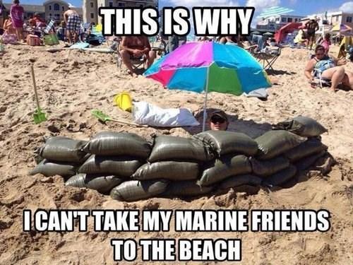 sandbags the beach military marines - 7958598656