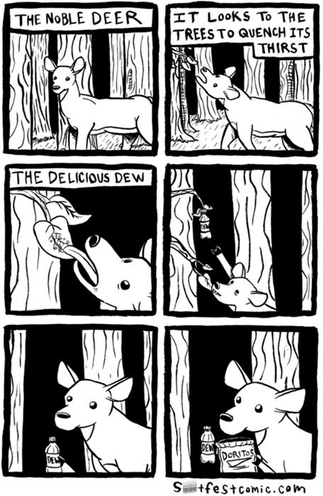 deer doritos mountain dew web comics - 7958607360