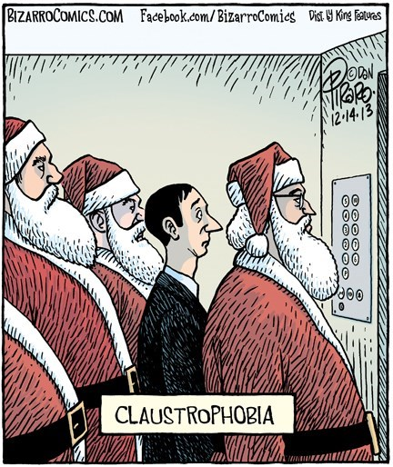 claustrophobia christmas puns web comics - 7958649600