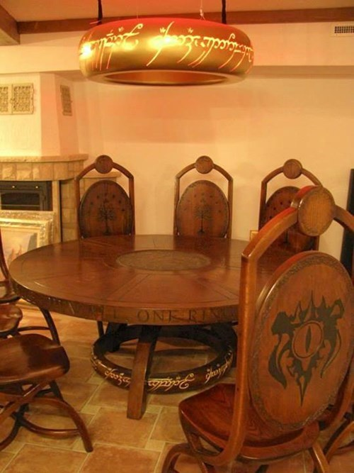 design,Lord of the Rings,table,nerdgasm,g rated,win