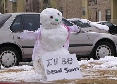 sign snowman winter - 7958669056