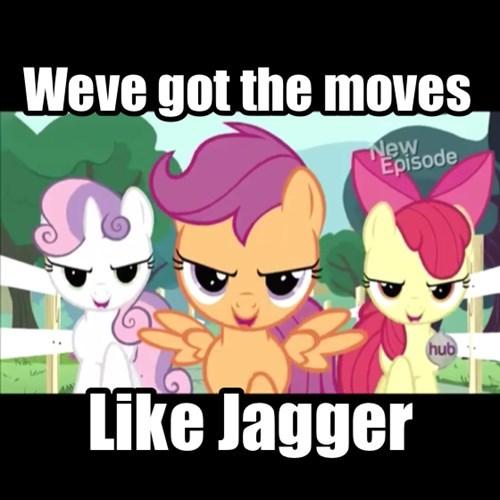 cutie mark crusaders MLP moves like jagger - 7958763264