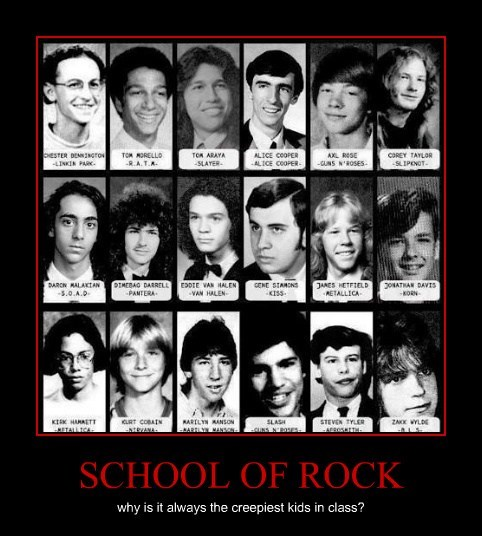 class,School of Rock,creepy,funny