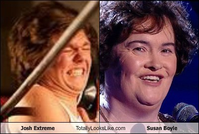 josh extreme,totally looks like,susan boyle