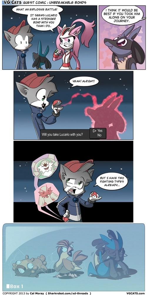 Pokémon,lucario,web comics,vgcats