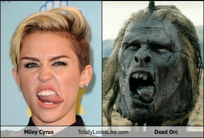 dead orc,orcs,totally looks like,miley cyrus