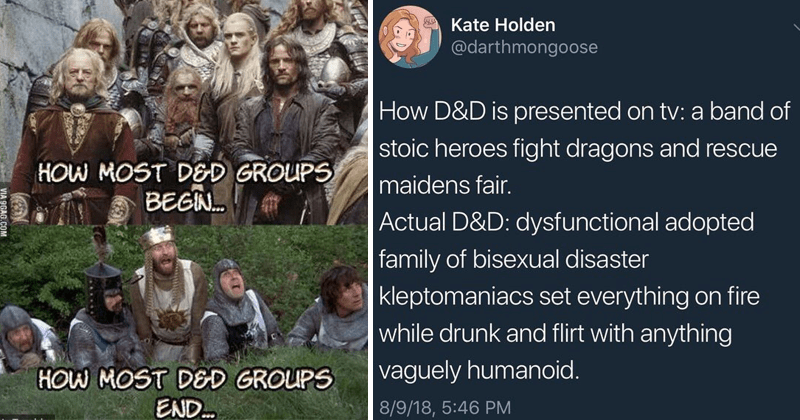 Funny memes about dungeons and dragons.