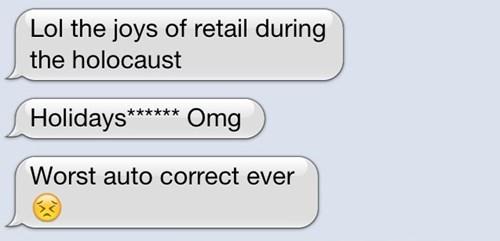 autocorrect holidays retail text AutocoWrecks - 7959783168