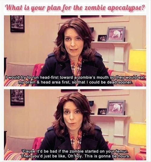 tina fey,advice,zombie apocalypse