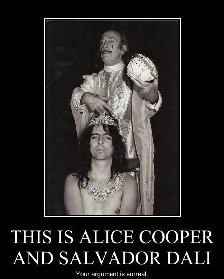 alice cooper salvador Dali argument funny - 7960009216