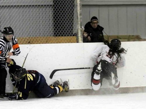 hockey photobomb innocent bystander - 7960081152