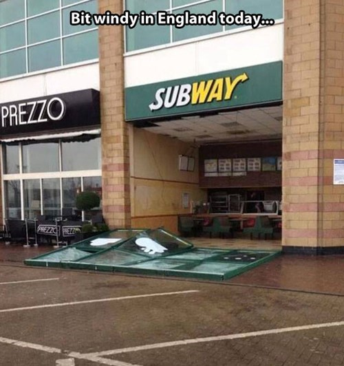 england storms Subway storm ivar